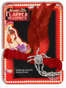 20's Charleston Flapper Headpiece Red