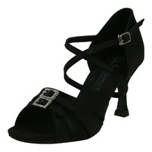 "Black Satin Ballroom Shoe 2.5"" Heel (GO9520)"