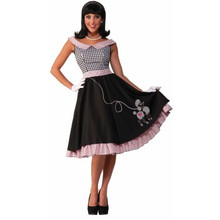 Checkered Cutie 50's Poodle Dress