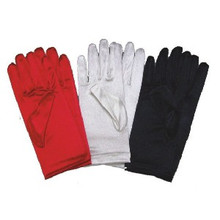 Gloves Satin Wrist Length 9""