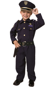 Deluxe Police Officer Costume Kids