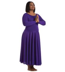 Plus Size Long Sleeve Dance Dress