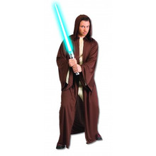 Hooded Jedi Robe Brown Star Wars