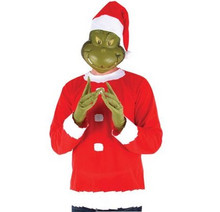 Elope Grinch Set w/ Latex Mask