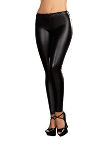 Ladies Black Liquid Leggings