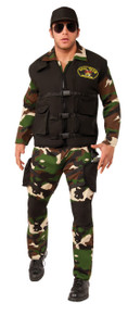 Seal Team 3 Camo Jumpsuit Costume Set