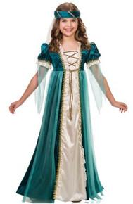 Emerald Juliet Girl's Dress with Headpiece