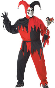 Evil Jester Adult Costume Set Red