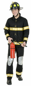 Fireman Black Coat & Pants