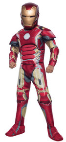 Avengers Kids Deluxe Iron Man Muscle Suit Licensed Age of Ultron