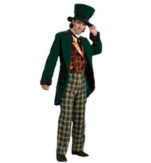 Rent: Deluxe Mad Hatter Men's Jacket, Pants, Vest & Hat