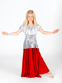 Girl's Metallic Tunic Pullover
