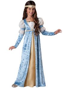 Renissance Maiden Girl's Blue Princess Dress