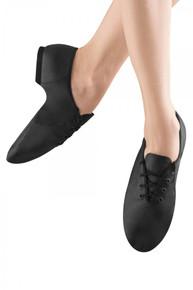 JazzSoft Lace Up Leather Jazz Shoes - Black