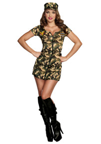 Army Doll Military Mini Dress w/ Hat (A9989)