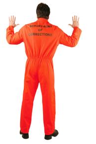 Convict Orange Prison Jumpsuit Adult Sizes