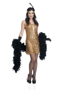 20's Gold Dazzling Darling Flapper