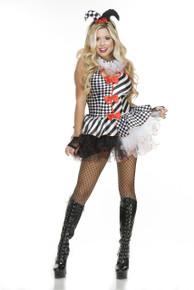 Black & White Jester Mini Dress