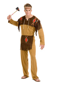 Native American Indian Brave Men's Full Costume