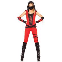 Ninja Assassin 4PC Women's Red Bodysuit