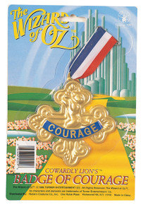Badge of Courage Cowarly Lion Licensed Wizard of Oz
