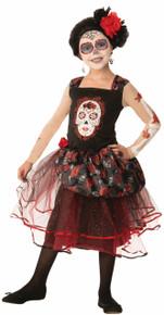 Day of the Dead Rosa Senorita Dress Kids