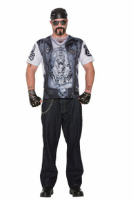 Instant Biker Vest Sublimation Printed T-Shirt