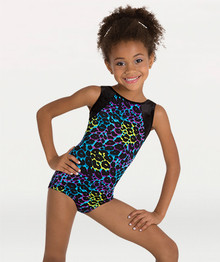 Girl's Rainbow Animal Print Tank Leotard