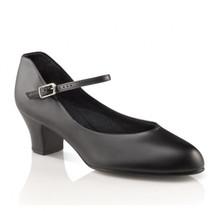 """Jr Footlight Black Character Shoe 1.5"""" Heel"""