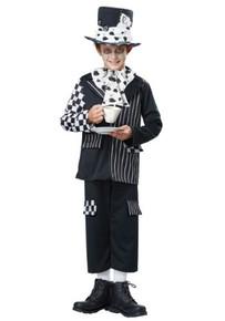 Black & White Mad Hatter Kids Costume