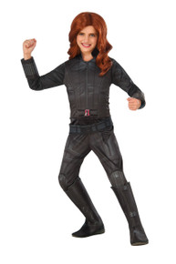 Avengers Kids Deluxe Black Widow Civil War Marvel Costume