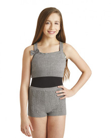 Capezio Girl's Knit Fitted Bra Top