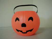 "8"" Pumpkin Container Comes with Black Handle"