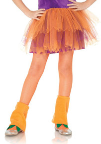 Fishnet Tights Child Sizes - Neon Orange