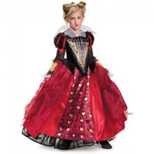 Alice in Wonderland Red Queen Girl's Deluxe Costume