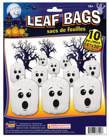 "Ghost Leaf Bags (10) 24""x30"" with ties"