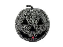 Crackle Black Pumpkin with Light