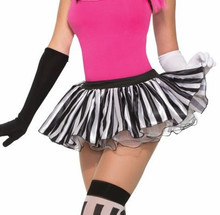 Harlequin Mini Tutu Black and White Striped