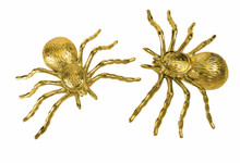 "Spiders Pack of 2 Gold Over 3"" x 5"""