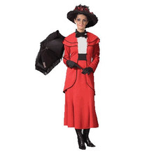 Rent: Spoon Full of Sugar Womens Red Victorian Costume