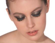 Eyelashes Blue & Yellow Gemstones with Adhesive