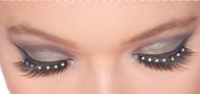Eyelashes Black with Stones and Adhesive