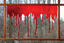 3D Drips of Blood 18in Wide For Glass, Mirrors, and Windows