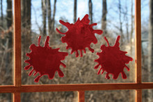 3D Blood Splats for Window, Glass, or Mirror