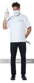 Dr. Novocaine Includes Shirt, Surgical Mask, Vinyl Half Mask
