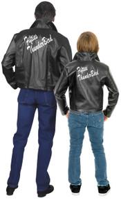 50's Thunderbird Jacket Men's Plus Black Faux Leather