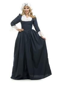 Colonial Woman Blue Dress & Bonnet