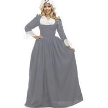 Colonial Woman Grey Dress & Bonnet