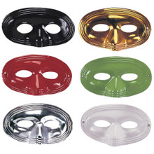 Domino Eye Mask Plastic Assorted Colors