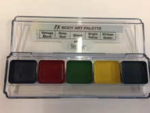 FX Body Art Palette 5 Colors Water Alcohol Activated